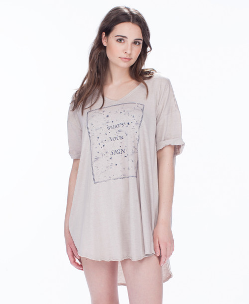 What's Your Sign Oversized Nightshirt