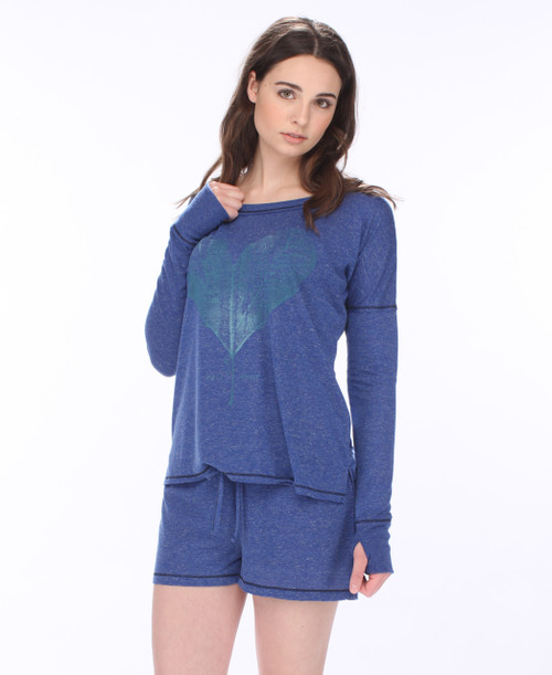 Free Spirit Long Sleeve Tee and Shorts PJ Set