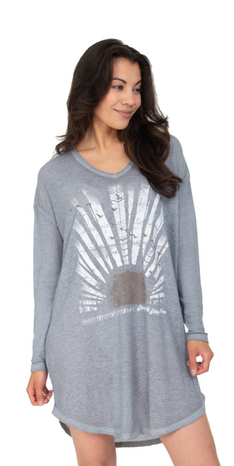 Stay Free Thermal Night Shirt Front View