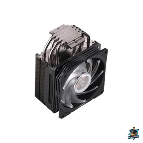 RR-212S-20PC-R1 - COOLERMASTER HYPER 212 RGB BLACK EDITION, GUN-METAL BLACK WITH BRUSHED ALUMINUM SURFACE -