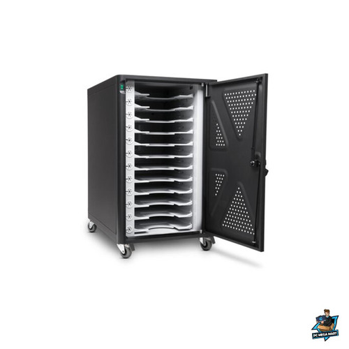 """64415 - KENSINGTON 12BAY CHARGE CABINET, FITS UP TO 14"""" NOTEBOOKS, UP TO 90W AC POWER (AC12) -"""