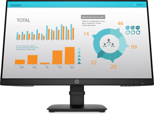 HP P24 G4 FHD Monitor (P24H, G4, JetBlack, Graphs) Front