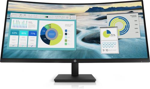 HP P34hc G4 WQHD USB-C Curved Monitor Center Facing