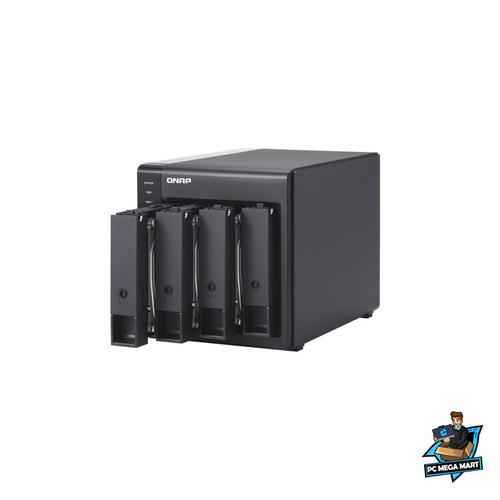 QNAP TR-004 storage drive enclosure 2 5 3 5 HDD SSD enclosure Black 2