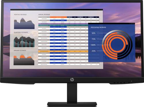 HP P27h G4 FHD Height Adjust Monitor, Center Facing