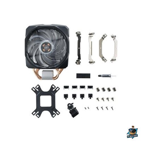 MAP-T6PN-218PC-R1 - COOLERMASTER MASTERAIR MA610P, DUAL MASTERFAN 120MM RGB, WITH 6 HEATPIPES -