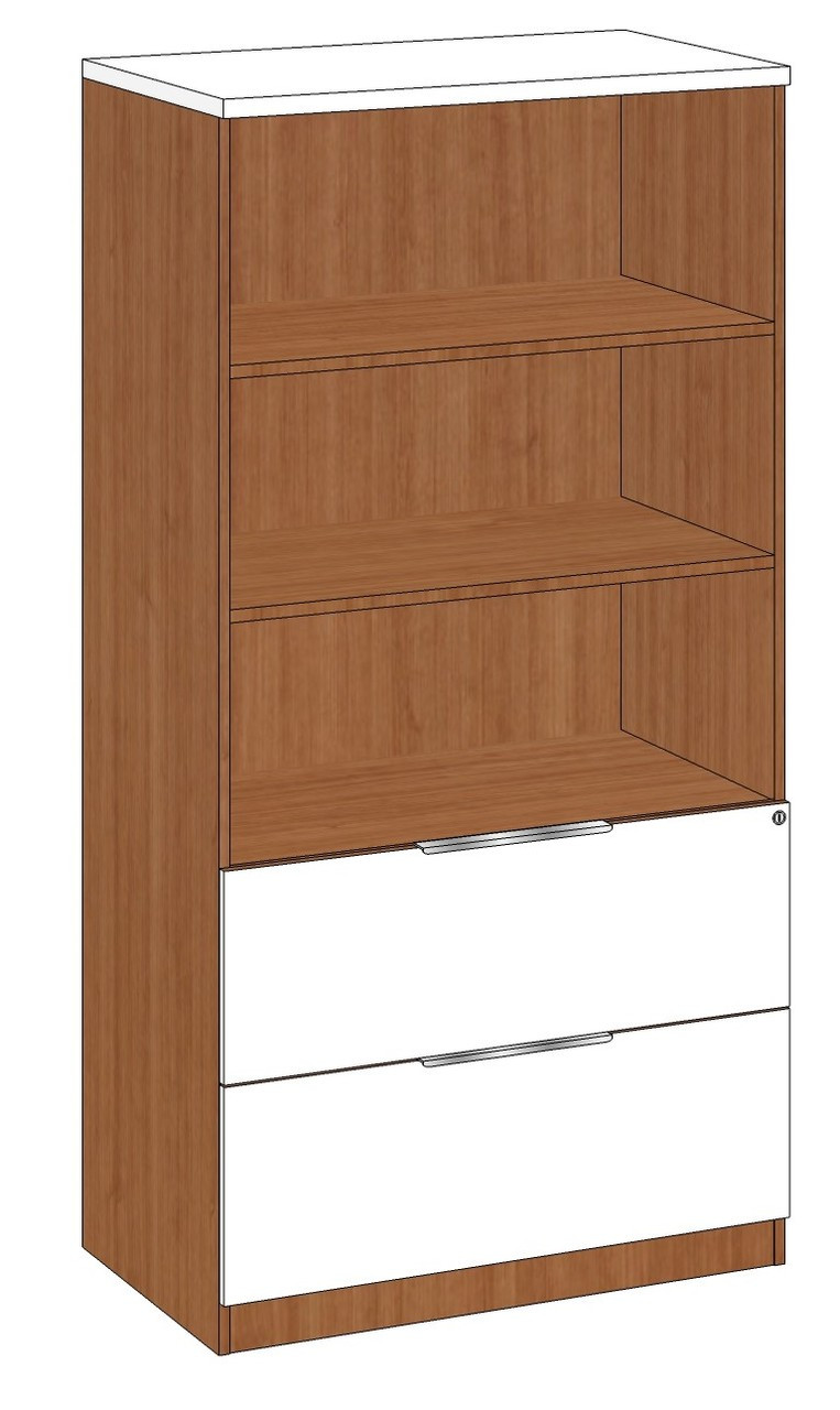 Lateral File And Bookcase Combo