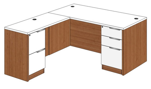 Straight Front L-Shape Desk Left Return