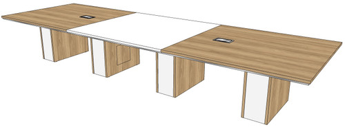 """Three-piece Rectangular Conference Tables with 12"""" Malibu Bases"""