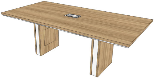 """One-piece Rectangular Conference Table with 5"""" Malibu Bases"""