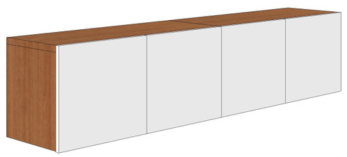 Wall-Mounted Overhead with Laminate Doors
