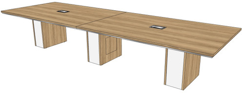 """Two-piece Rectangular Conference Tables with 12"""" Malibu Bases"""