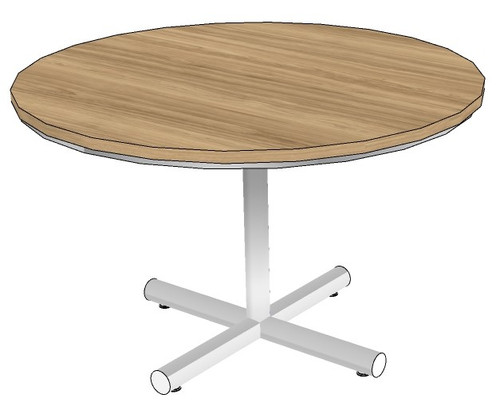 Round Conference Table with Newport Metal Base