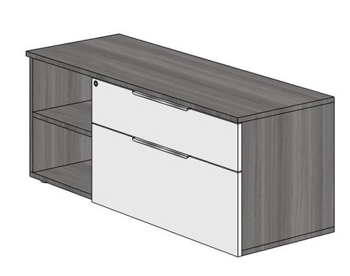 """20"""" High Combination Storage Credenza -  Right Handed"""