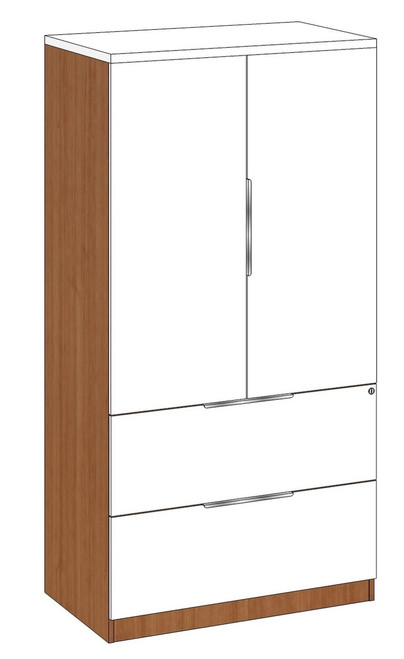 Lateral File and Storage Cabinet Combo