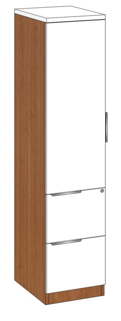 Personal Storage Cabinet with File-File Pedestal, Left Handed