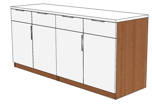 Buffet Credenza With Four Drawers