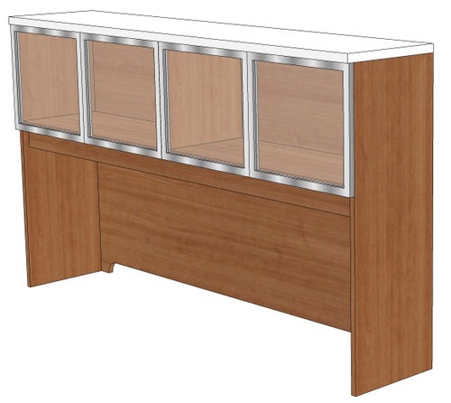 """36"""" Tall Frosted Acrylic Door Hutch"""