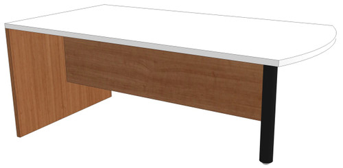 Bow-End Peninsula Desk with 3/4 Modesty