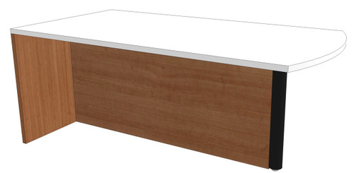 Bow-End Peninsula Desk with Full Modesty