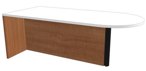 Bullet-End Peninsula Desk with Full Modesty