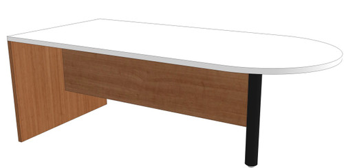 Bullet-End Peninsula Desk with 3/4 Modesty