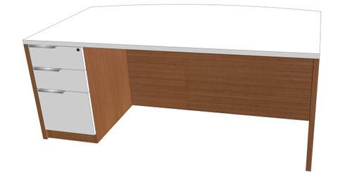 Single Pedestal Fantop Desk