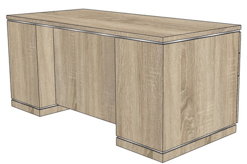 Milano Double Pedestal Desk with Box/Box/File Peds