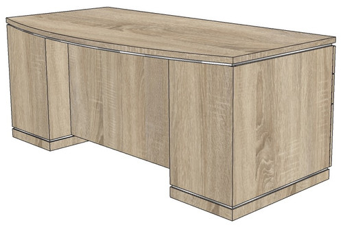 Milano Fantop Double Pedestal Desk with Box/Box/File Peds