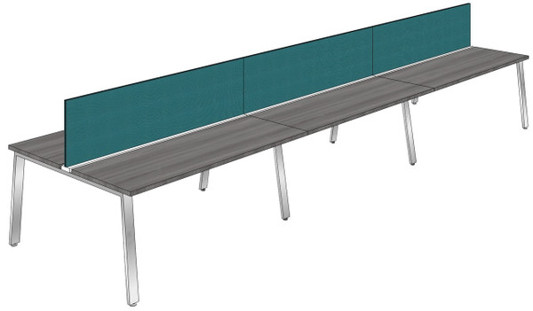 """Synapse 6-packs with 18"""" Tackable Privacy Panels, 60"""" Deep Bench"""