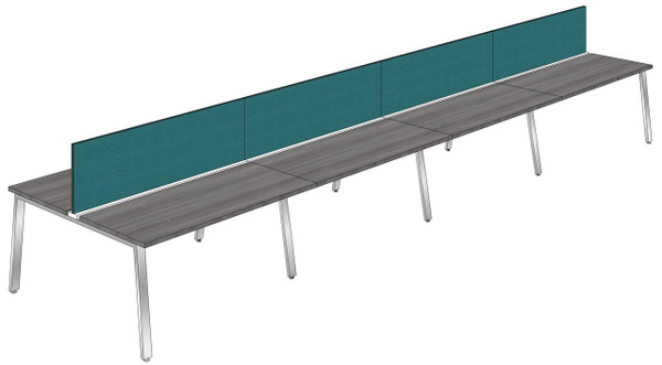 """Synapse 8-packs with 18"""" Tackable Privacy Panels, 60"""" Deep Bench"""