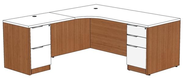 Computer Corner L-Shape Desk Left Return