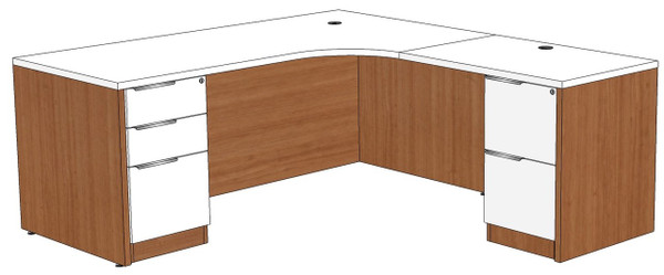 Computer Corner L-Shape Desk Right Return