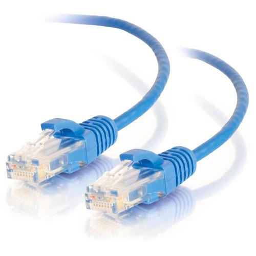 C2G 1ft Cat6 Ethernet Cable - Slim - Snagless Unshielded (UTP) - Blue