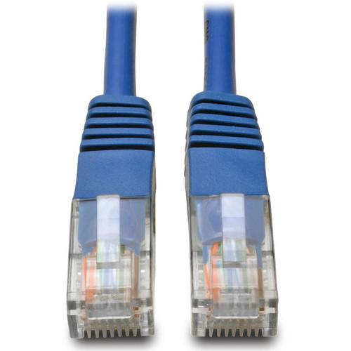 Tripp Lite 1ft Cat5e / Cat5 350MHz Molded Patch Cable RJ45 M/M Blue 1'