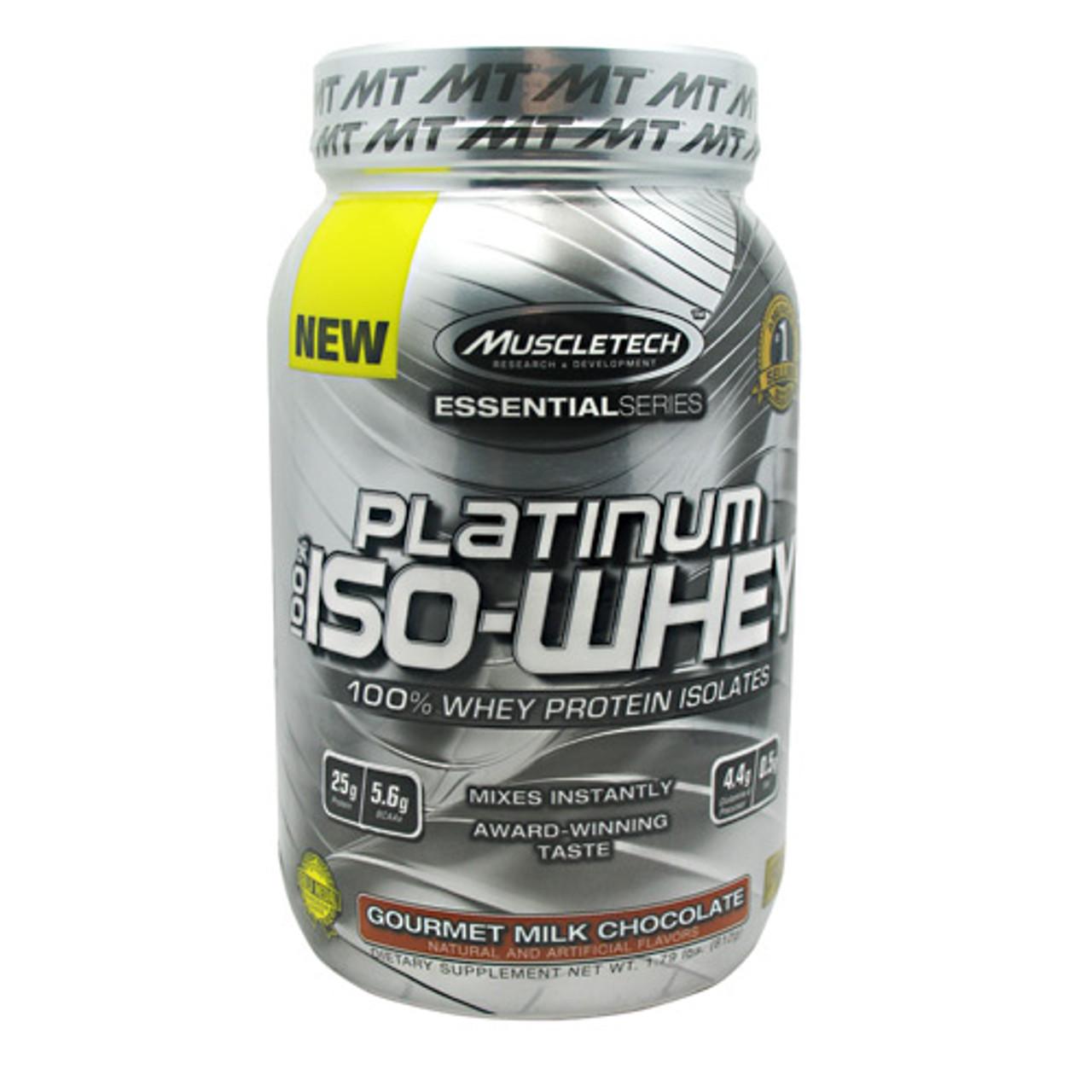 100% Platinum Iso-Whey 1.75lb Muscletech