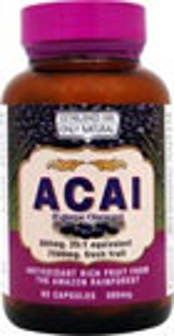 Acai Capsules 60ct Only Natural