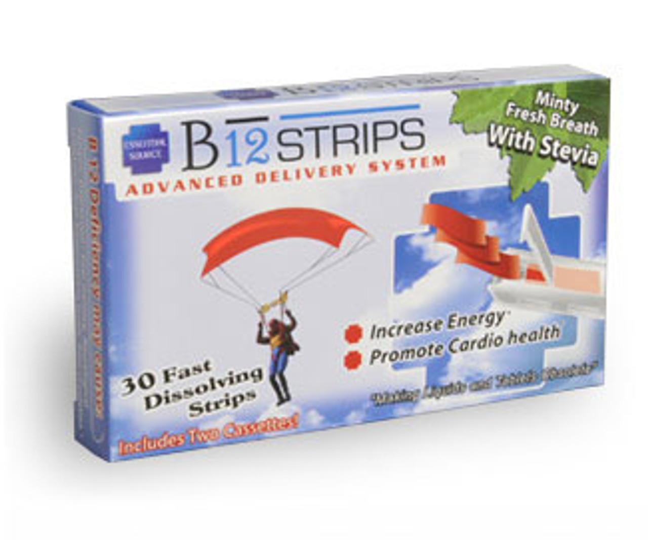 B12 Strips 30ct Essential Source (1000mcg)
