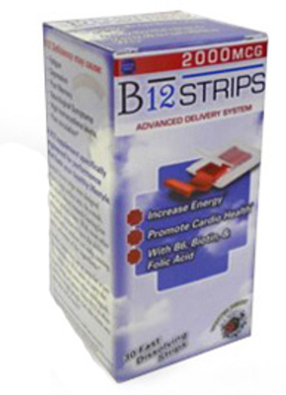 B12 Strips 30ct Essential Source (2000mcg)