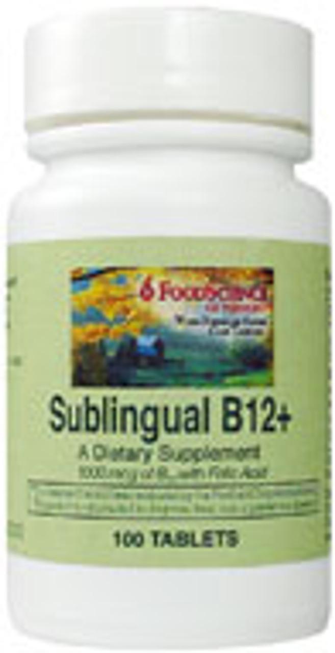 B-12 + (Sublingual) 100ct Food Science Labs