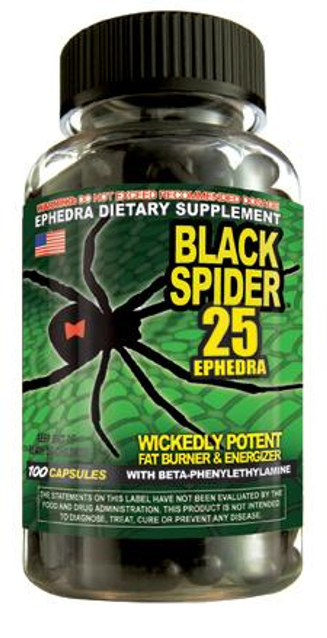 Black Spider 25 Ephedra by Cloma Pharma 100ct
