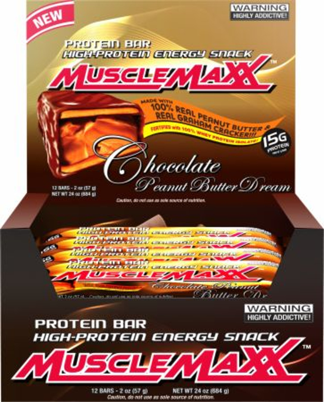 Clearance MuscleMaxx Bars 12ct