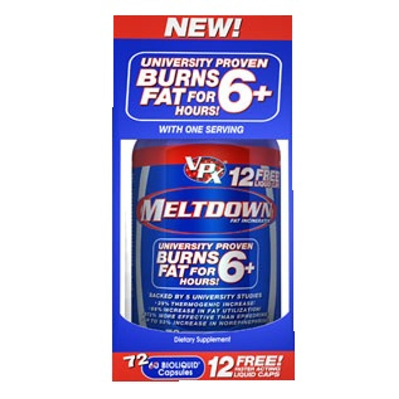 Meltdown Bioliquid Capsules 72ct VPX Sports
