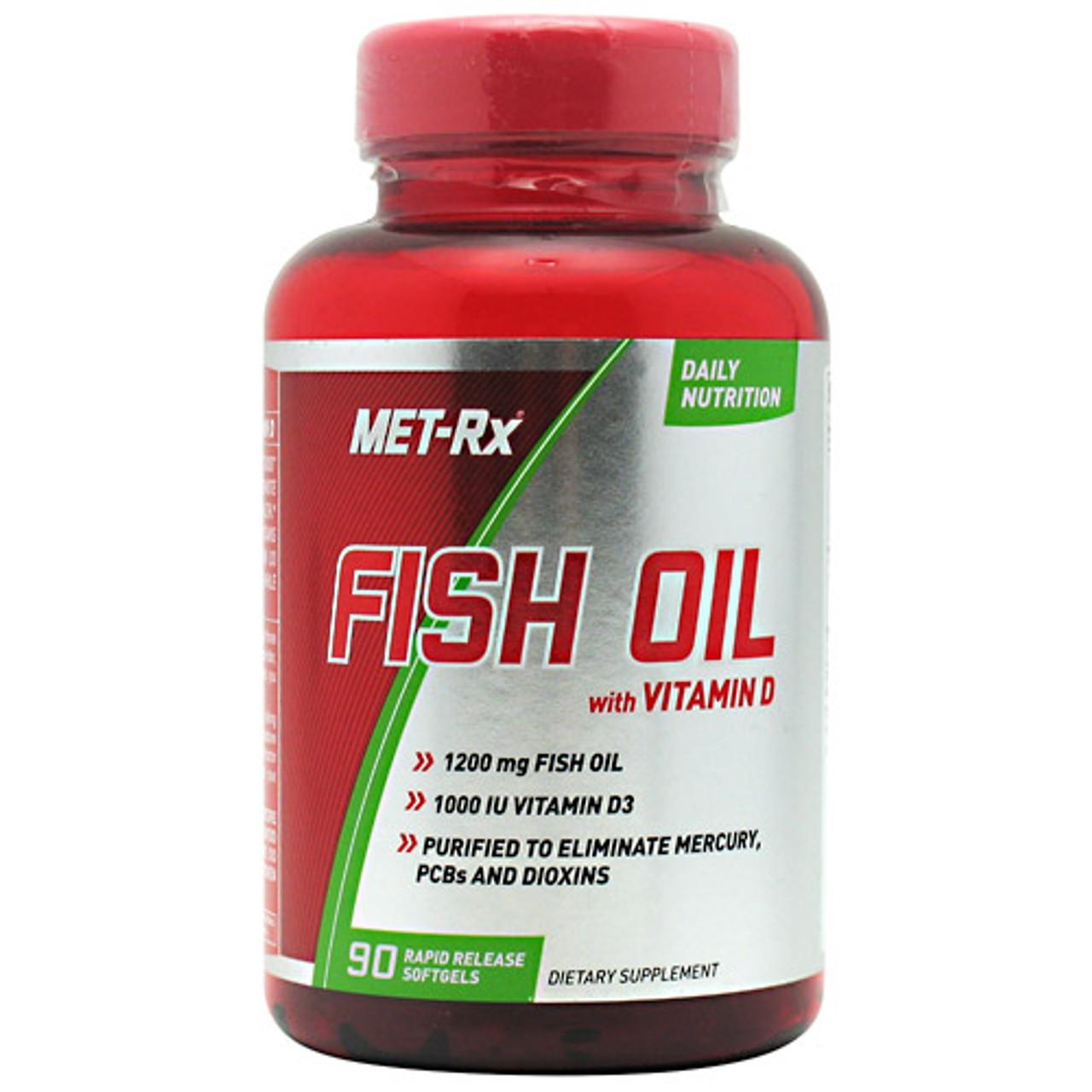 Fish Oil w/ Vitamin D by Met-Rx 90ct