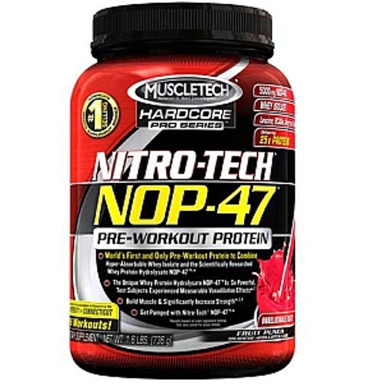 NitroTech Nop47 MuscleTech 1.6lb