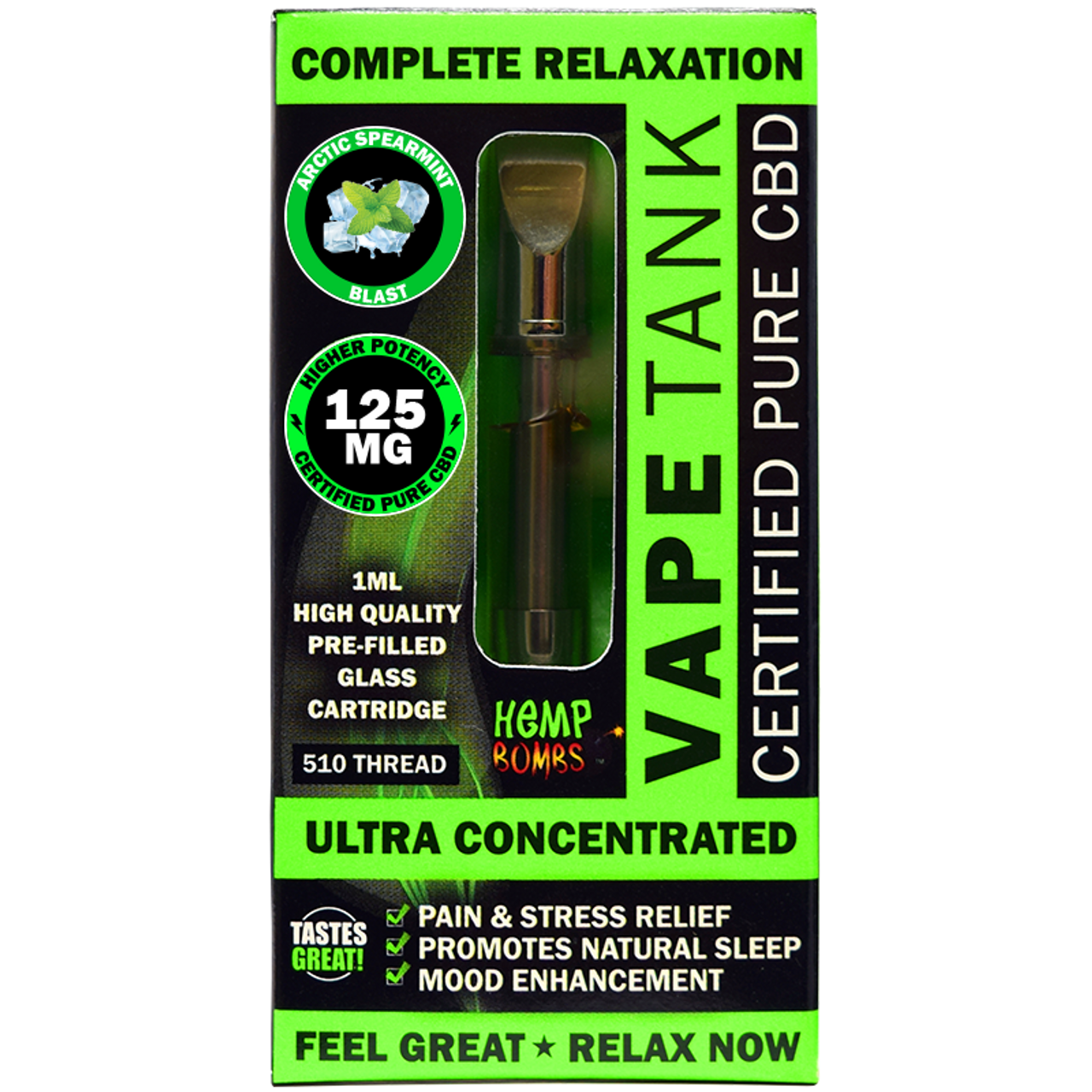 CBD Vape Tank by Hemp Bombs