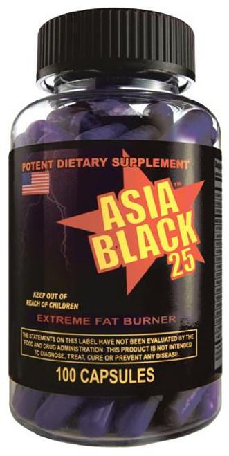 Asia Black 25 (Ephedra Fat Burner) by Cloma Pharma 100ct