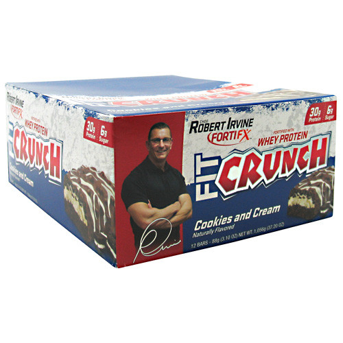 Fit Crunch Bar by Chef Robert Irvine Fortifx 12bars