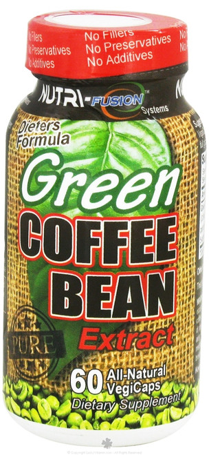 Green Coffee Bean Extract 60ct NutriFusion Systems (800mg)