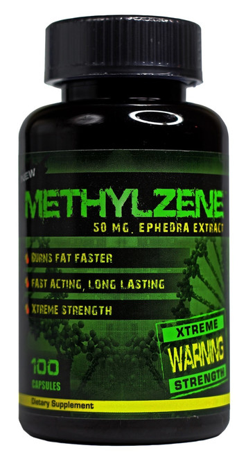 Methylzene Ephedra 100ct Hard Rock Supplements